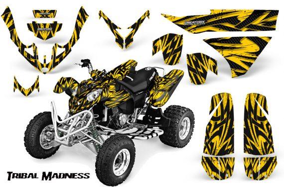 Polaris Predator 500 CreatorX Graphics Kit Tribal Madness Yellow 570x376 - Polaris Predator 500 Graphics