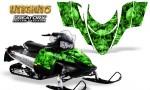 Polaris RMK Shift Chassis CreatorX Graphics Kit Inferno Green 150x90 - Polaris Shift RMK Switchback Assult Graphics