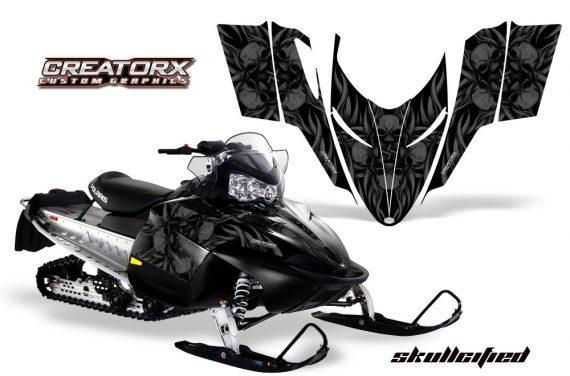 Polaris RMK Shift Chassis CreatorX Graphics Kit Skullcified Black 570x376 - Polaris Shift RMK Switchback Assult Graphics