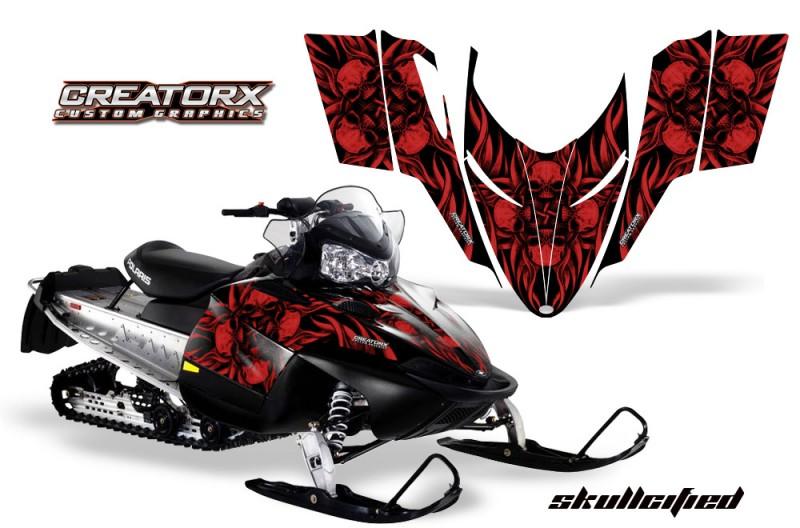 Polaris-RMK-Shift-Chassis-CreatorX-Graphics-Kit-Skullcified-Red