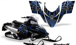 Polaris RMK Shift Chassis CreatorX Graphics Kit SpiderX Blue 150x90 - Polaris Shift RMK Switchback Assult Graphics