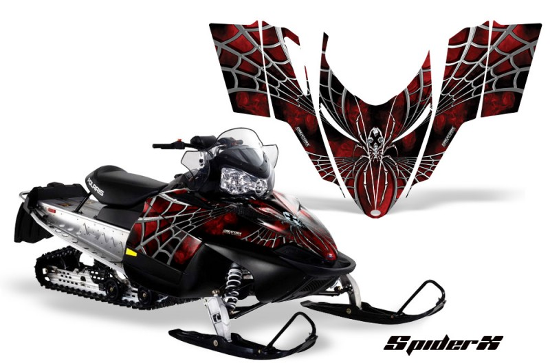 Polaris-RMK-Shift-Chassis-CreatorX-Graphics-Kit-SpiderX-Red