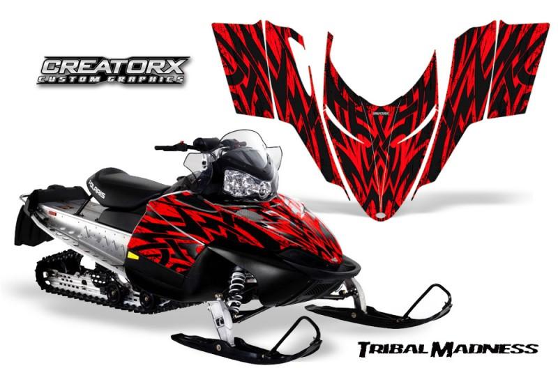 Polaris-RMK-Shift-Chassis-CreatorX-Graphics-Kit-Tribal-Madness-Red
