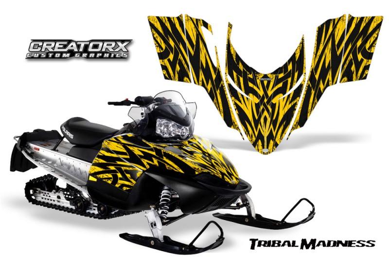 Polaris-RMK-Shift-Chassis-CreatorX-Graphics-Kit-Tribal-Madness-Yellow