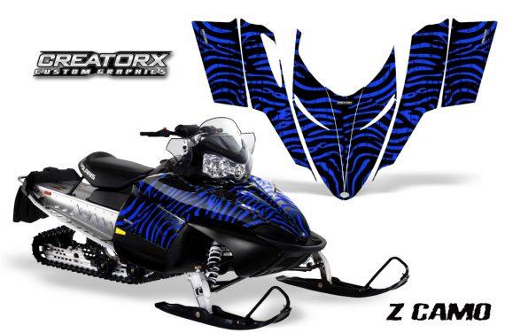 Polaris RMK Shift Chassis CreatorX Graphics Kit ZCamo Blue 570x376 - Polaris Shift RMK Switchback Assult Graphics