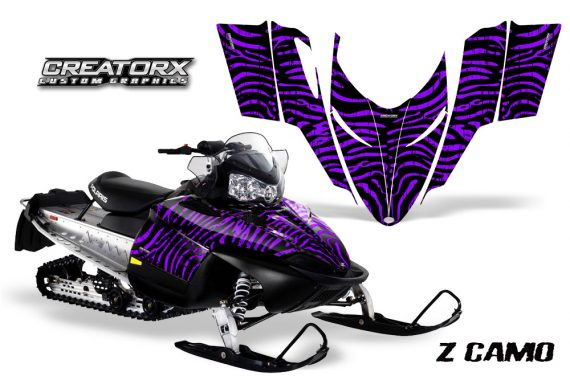 Polaris RMK Shift Chassis CreatorX Graphics Kit ZCamo Purple 570x376 - Polaris Shift RMK Switchback Assult Graphics