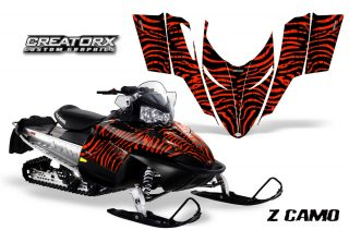 Polaris RMK Shift Chassis CreatorX Graphics Kit ZCamo Red 320x211 - Polaris Shift RMK Switchback Assult Graphics