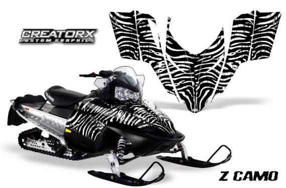 Polaris RMK Shift Chassis CreatorX Graphics Kit ZCamo White 570x376 - Polaris Shift RMK Switchback Assult Graphics