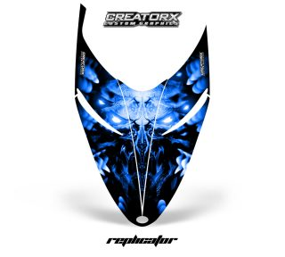 Polaris RMK Shift Hood CreatorX Graphics Kit Alien Replicator Blue 320x288 - Polaris Shift RMK Switchback Assult Hood Graphics