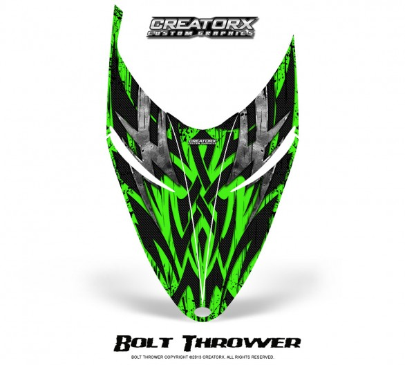 Polaris-RMK-Shift-Hood-CreatorX-Graphics-Kit-Bolt-Thrower-Green