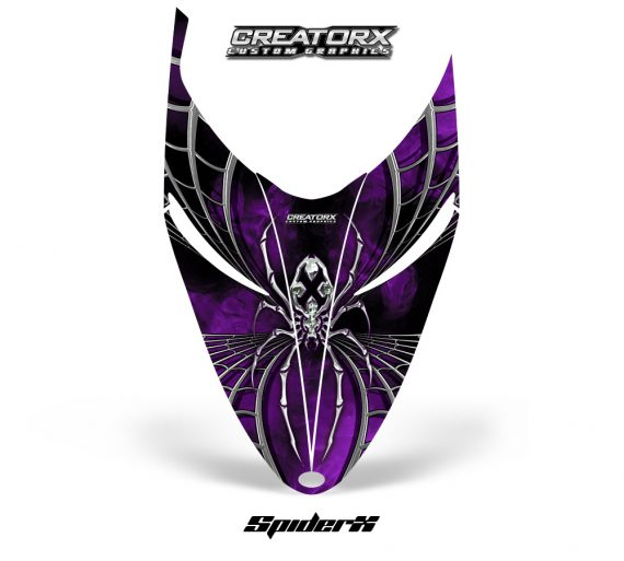 Polaris RMK Shift Hood CreatorX Graphics Kit SpiderX Purple 570x513 - Polaris Shift RMK Switchback Assult Hood Graphics