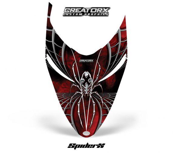 Polaris RMK Shift Hood CreatorX Graphics Kit SpiderX Red 570x513 - Polaris Shift RMK Switchback Assult Hood Graphics
