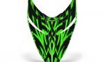 Polaris RMK Shift Hood CreatorX Graphics Kit Tribal Madness Green 150x90 - Polaris Shift RMK Switchback Assult Hood Graphics