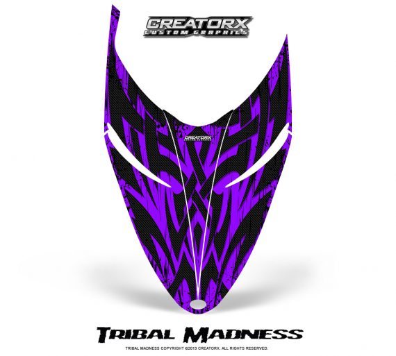 Polaris RMK Shift Hood CreatorX Graphics Kit Tribal Madness Purple 570x513 - Polaris Shift RMK Switchback Assult Hood Graphics