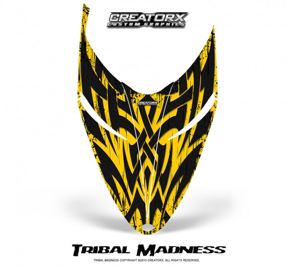 Polaris-RMK-Shift-Hood-CreatorX-Graphics-Kit-Tribal-Madness-Yellow
