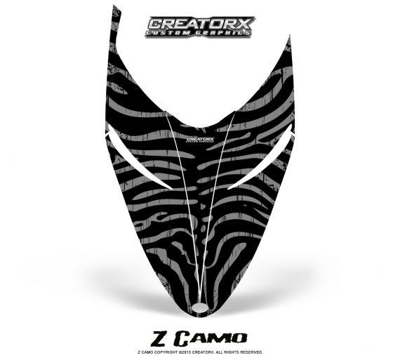 Polaris RMK Shift Hood CreatorX Graphics Kit ZCamo Silver 570x513 - Polaris Shift RMK Switchback Assult Hood Graphics