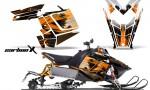 Polaris RUSH AMR Graphics Kit CarbonX o 150x90 - Polaris PRO RMK RUSH 2011-2014 Graphics