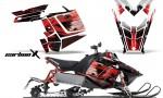 Polaris RUSH AMR Graphics Kit CarbonXRed 150x90 - Polaris PRO RMK RUSH 2011-2014 Graphics