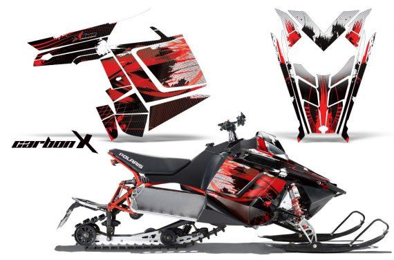 Polaris RUSH AMR Graphics Kit CarbonXRed 570x376 - Polaris PRO RMK RUSH 2011-2014 Graphics