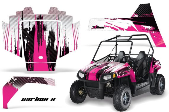 Polaris RZR 170 AMR Graphic Kit CarbonX Pink 570x376 - Polaris Youth RZR 170 Graphics