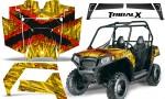 Polaris RZR 570 CreatorX Graphics Kit TribalX Red Yellow 150x90 - Polaris RZR 570 UTV Graphics