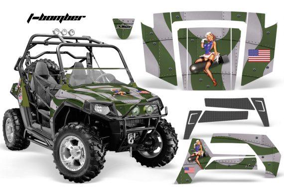 Polaris RZR 800 06 10 AMR Graphic Kit ARMY GREEN TBomber 570x376 - Polaris RZR 800 800s 2006-2010 Graphics