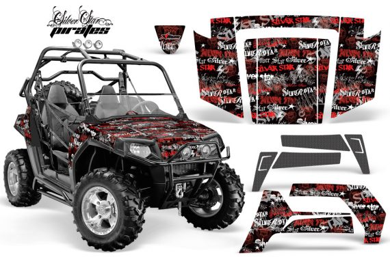 Polaris RZR 800 06 10 AMR Graphic Kit RED BLACKBG Silverhaze 570x376 - Polaris RZR 800 800s 2006-2010 Graphics