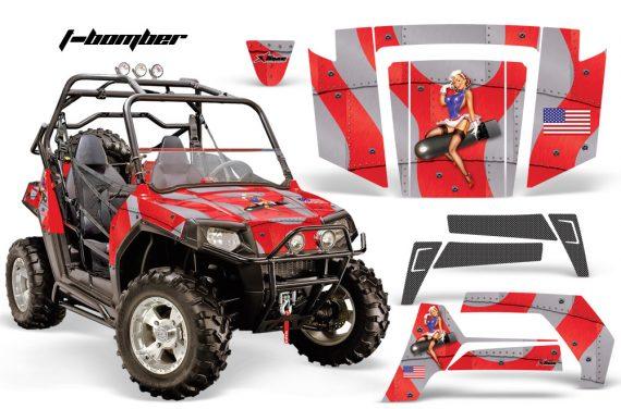 Polaris RZR 800 06 10 AMR Graphic Kit RED TBomber 570x376 - Polaris RZR 800 800s 2006-2010 Graphics