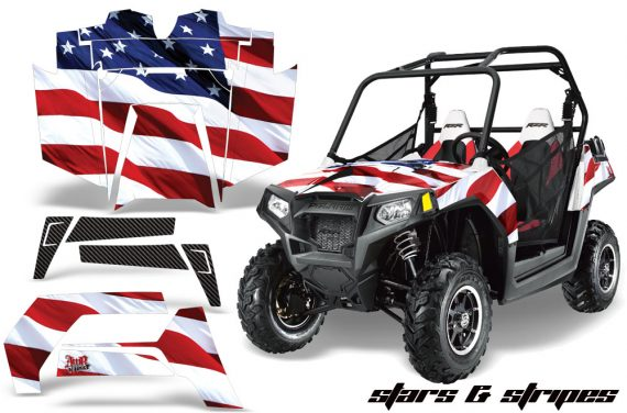 RZR 800 800s graphics decal kit 2011-2014 door options Thin Blue Line Flag