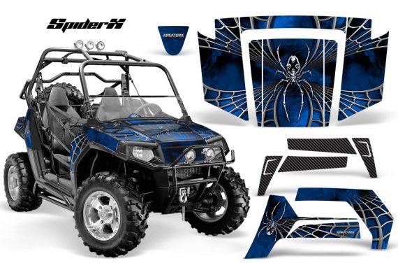 Polaris RZR 800 2006 2010 CreatorX Graphics Kit SpiderX Blue 570x376 - Polaris RZR 800 800s 2006-2010 Graphics