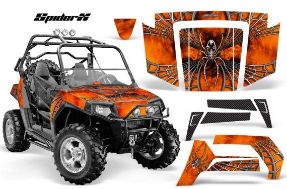 Polaris RZR 800 2006 2010 CreatorX Graphics Kit SpiderX Orange Custom 570x376 - Polaris RZR 800 800s 2006-2010 Graphics