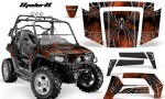 Polaris RZR 800 2006 2010 CreatorX Graphics Kit SpiderX Orange Dark 150x90 - Polaris RZR 800 800s 2006-2010 Graphics