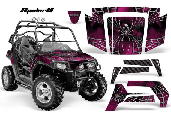 Polaris RZR 800 2006 2010 CreatorX Graphics Kit SpiderX Pink 570x376 - Polaris RZR 800 800s 2006-2010 Graphics