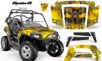 Polaris RZR 800 2006 2010 CreatorX Graphics Kit SpiderX Yellow 150x90 - Polaris RZR 800 800s 2006-2010 Graphics