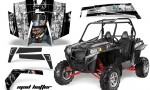 Polaris RZR 900 11 12 AMR Graphic Kit MH B W 150x90 - Polaris RZR 900 XP UTV 2011-2014 Graphics
