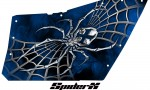 Polaris RZR OEM Door CreatorX Graphics SpiderX Blue 150x90 - Polaris XP RZR 800/900 CREATORX Graphics for OEM Polaris Doors