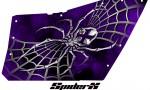 Polaris RZR OEM Door CreatorX Graphics SpiderX Purple 150x90 - Polaris XP RZR 800/900 CREATORX Graphics for OEM Polaris Doors