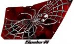 Polaris RZR OEM Door CreatorX Graphics SpiderX Red 150x90 - Polaris XP RZR 800/900 CREATORX Graphics for OEM Polaris Doors