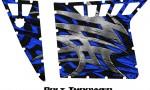 Polaris RZR Pro Armor CreatorX Graphics Bolt Thrower Blue 150x90 - Polaris RZR 570 800 900 Pro Armor Door CREATORX Graphics Kit