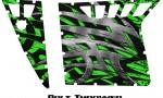 Polaris RZR Pro Armor CreatorX Graphics Bolt Thrower Green 150x90 - Polaris RZR 570 800 900 Pro Armor Door CREATORX Graphics Kit