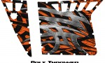 Polaris RZR Pro Armor CreatorX Graphics Bolt Thrower Orange 150x90 - Polaris RZR 570 800 900 Pro Armor Door CREATORX Graphics Kit
