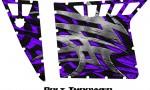 Polaris RZR Pro Armor CreatorX Graphics Bolt Thrower Purple 150x90 - Polaris RZR 570 800 900 Pro Armor Door CREATORX Graphics Kit
