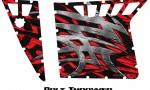 Polaris RZR Pro Armor CreatorX Graphics Bolt Thrower Red 150x90 - Polaris RZR 570 800 900 Pro Armor Door CREATORX Graphics Kit