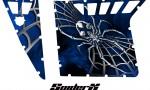 Polaris RZR Pro Armor CreatorX Graphics SpiderX Blue 150x90 - Polaris RZR 570 800 900 Pro Armor Door CREATORX Graphics Kit