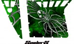 Polaris RZR Pro Armor CreatorX Graphics SpiderX Green 150x90 - Polaris RZR 570 800 900 Pro Armor Door CREATORX Graphics Kit