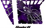 Polaris RZR Pro Armor CreatorX Graphics SpiderX Purple 150x90 - Polaris RZR 570 800 900 Pro Armor Door CREATORX Graphics Kit