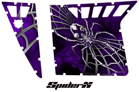 Polaris RZR Pro Armor CreatorX Graphics SpiderX Purple 570x376 - Polaris RZR 570 800 900 Pro Armor Door CREATORX Graphics Kit