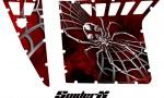 Polaris RZR Pro Armor CreatorX Graphics SpiderX Red 150x90 - Polaris RZR 570 800 900 Pro Armor Door CREATORX Graphics Kit