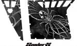 Polaris RZR Pro Armor CreatorX Graphics SpiderX Silver 150x90 - Polaris RZR 570 800 900 Pro Armor Door CREATORX Graphics Kit