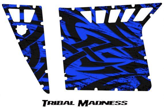 Polaris RZR Pro Armor CreatorX Graphics Tribal Madness Blue 570x376 - Polaris RZR 570 800 900 Pro Armor Door CREATORX Graphics Kit